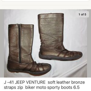 9082cb06a88 J41 JEEP VENTURE bronze tall moto style boots 6.5